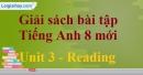 Reading – trang 20 Unit 3 SBT Tiếng Anh 8 mới