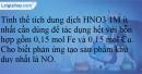 Bài 18.20 trang 40 SBT Hoá học 12