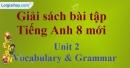 Vocabulary & Grammar -  trang 10 Unit 2 SBT Tiếng Anh 8 mới