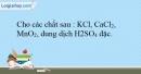 Bài 26.10 trang 61 SBT Hóa học 10