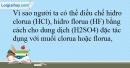 Bài 26.15 trang 62 SBT Hóa học 10