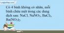 Bài 26.16 trang 62 SBT Hóa học 10