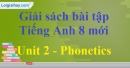 Phonetics - trang 9 - Unit 2 SBT Tiếng Anh 8 mới
