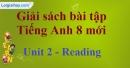 Reading -  trang 13 - Unit 2 SBT Tiếng Anh 8 mới