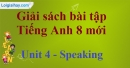 Speaking – Unit 4 SBT Tiếng Anh 8 mới