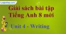 Writing – Unit 4 SBT Tiếng Anh 8 mới