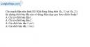 Bài III.7 trang 46 SBT Vật lí 11