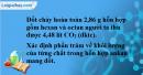 Bài 25.16 trang 39 SBT hóa học 11