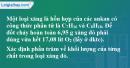 Bài 25.17 trang 40 SBT hóa học 11