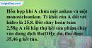 Bài 26.6 trang 41 SBT hóa học 11