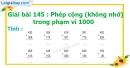 Bài 145 : Phép cộng (không nhớ) trong phạm vi 1000