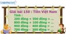Bài 150 : Tiền Việt Nam