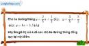 Bài 3.3 phần bài tập bổ sung trang 65 SBT toán 9 tập 1