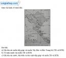 Câu 1 trang 103 SBT địa 8