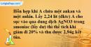 Bài 38.9 trang 60 SBT hóa học 11