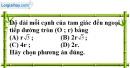 Bài 6.1 phần bài tập bổ sung trang 166 SBT toán 9 tập 1
