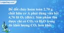 Bài 41.9 trang 66 SBT hóa học 11