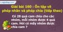 Bài 160 : Ôn tập về phép nhân và phép chia (tiếp theo)