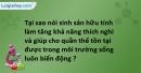 Bài 7 trang 88 SBT sinh học 11