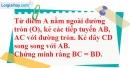 Bài 6.3 phần bài tập bổ sung trang 167 SBT toán 9 tập 1