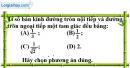 Bài ll.1 phần bài tập bỏ sung trang 173 SBT toán 9 tập 1