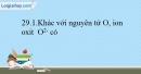 Bài 29.1, 29.2, 29.3, 29.4 trang 63 SBT Hóa học 10