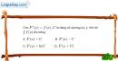Bài 3.10 trang 165 SBT giải tích 12