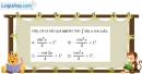 Bài 3.11 trang 165 SBT giải tích 12