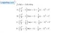 Bài 3.14 trang 166 SBT giải tích 12