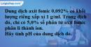 Bài 45.11 trang 72 SBT hóa học 11