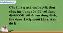 Bài 45.9 trang 72 SBT hóa học 11
