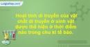 Bài 7 trang 109 SBT Sinh học 10