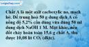 Bài 46.15 trang 76 SBT hóa học 11