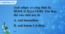 Bài 46.3, 46.4 trang 74 SBT hóa học 11