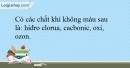 Bài 29.15 trang 66 SBT Hóa học 10