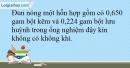 Bài 30.10 trang 68 SBT Hóa học 10