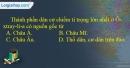 Giải câu 3 trang 87 SBT địa 11