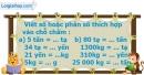 B. Hoạt động thực hành - Bài 13 : Bảng đơn vị đo khối lượng
