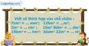 B. Hoạt động thực hành - Bài 15 : Mi-li-mét vuông. Bảng đơn vị đo diện tích