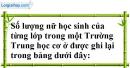 Bài 1 trang 5 SBT toán 7 tập 2