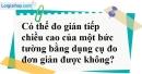 Bài 10 trang 74 Vở bài tập toán 8 tập 2