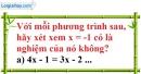 Bài 1 trang 6 Vở bài tập toán 8 tập 2