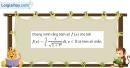Bài 3.20 trang 172 SBT giải tích 12