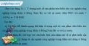 Giải câu 1 trang 82 SBT địa 9