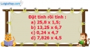 B. Hoạt động thực hành - Bài 37 : Nhân một số thập phân với một số thập phân