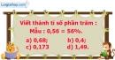 B. Hoạt động thực hành - Bài 49 : Giải toán về tỉ số phần trăm