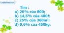 B. Hoạt động thực hành - Bài 50 : Giải toán về tỉ số phần trăm (tiếp theo)