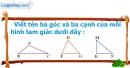 B. Hoạt động thực hành - Bài 55 : Hình tam giác