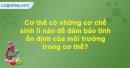 Bài 1 mục II trang 170,171 Vở bài tập Sinh h ọc 8