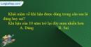 Câu 1 trang 61 SBT địa 6 - Bài 18